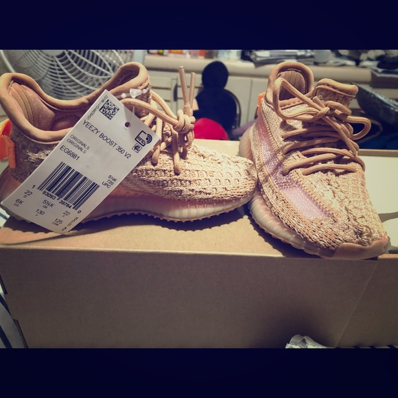 huge discount 3871a 887a2 Yeezy Boost 350 toddler size 6 Clay SOLD OUT! NWT